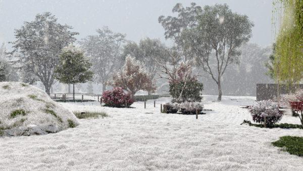 Lands Design - privater Garten Schnee