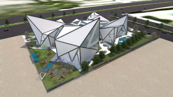 Lands Design - Origami Experimental Center in Neu Kairo von Mohamed Gamal