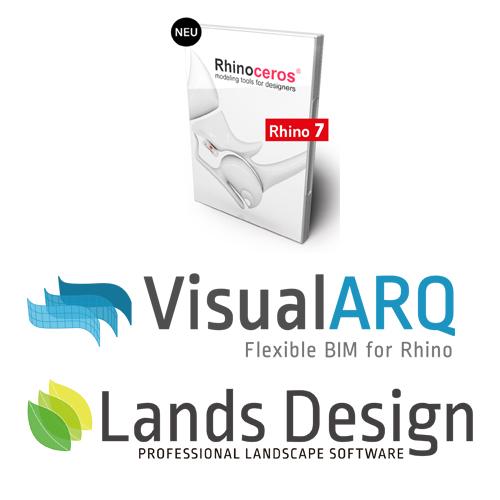 Bundle - Rhino und VisualARQ und Lands Design