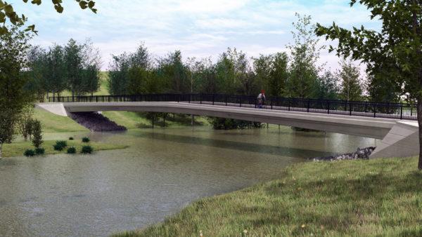 Lands Design - Brücke und Park