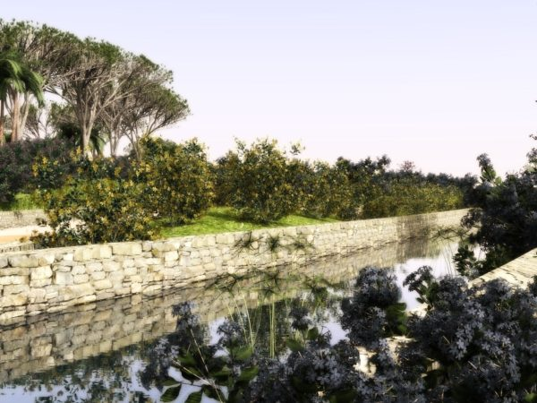 Lands Design - Canal with small plants