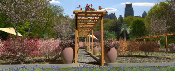 Lands Design - Pergola and flowerpots